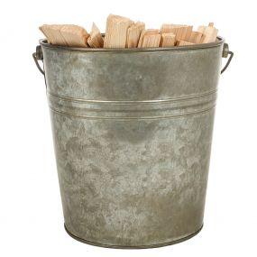 Fireside Zinc Kindling Bucket