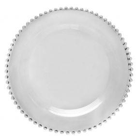 Bella Perle Beaded Glass Dinner Plate