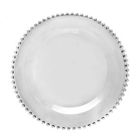 Bella Perle Beaded Glass Dinner Plate