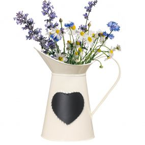 Country Cream Jug Vase with Chalkboard