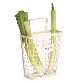 Country Cream Wire Kitchen Vegetable Storage Basket