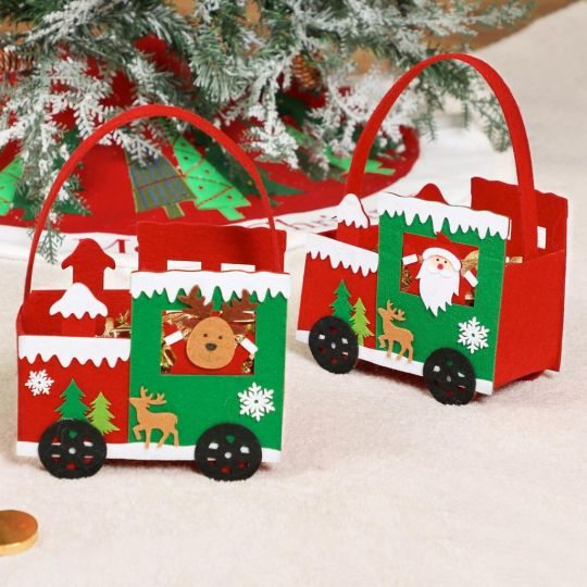 Plastic Free Christmas Character Under the Tree Gift Bags
