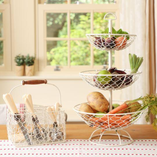 Country Cream Kitchen Storage Accessories
