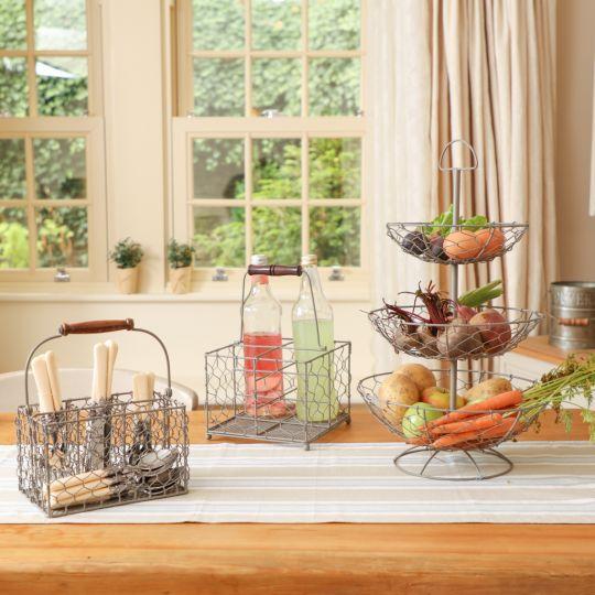 French Grey Kitchen Storage and Linen