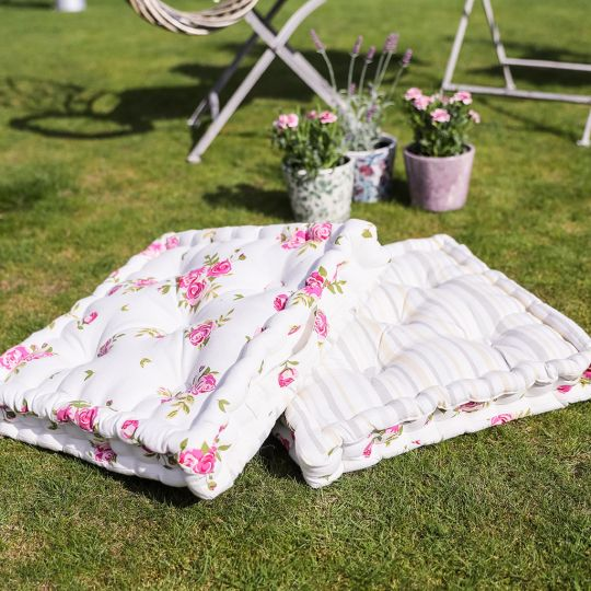 Helmsley Blush Grass Cushion Picnic Collection
