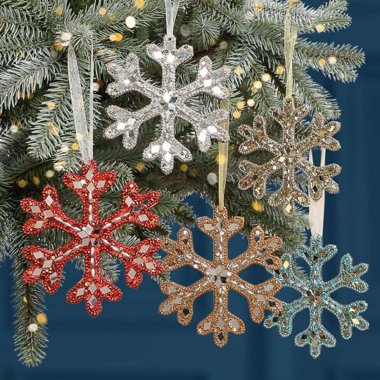 Opulent Snowflake Christmas Tree Decoration Collection