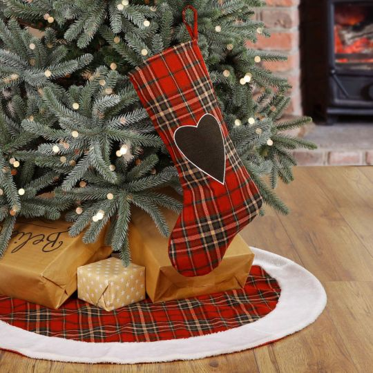 Snowy Highland Mountains Stocking and Tree Skirt Collection