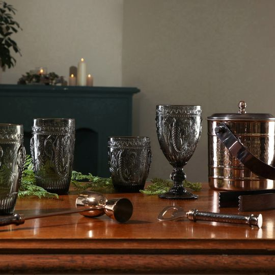 Grey Savannah Entertaining Glassware and Barware
