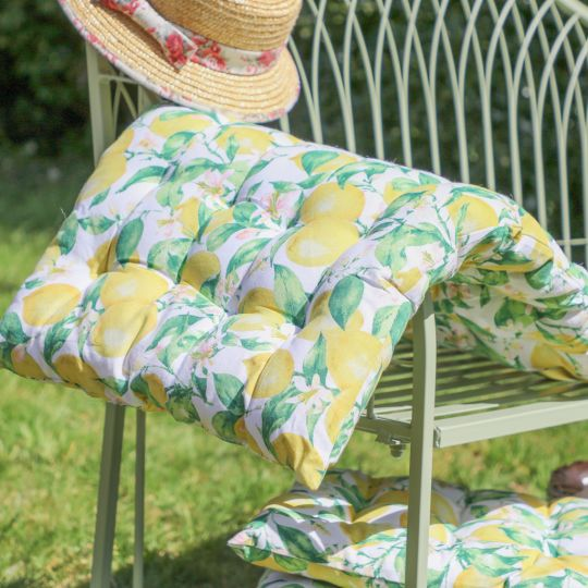 Citron Lemon Garden Cushions