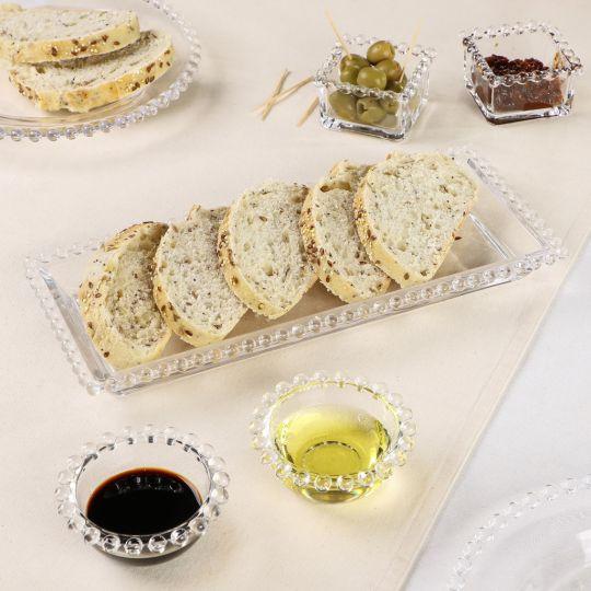 Bella Perle Bread Platter Set