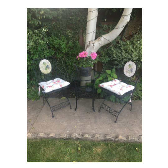 Set of 2 Helmsley Blush Garden Seat Pads