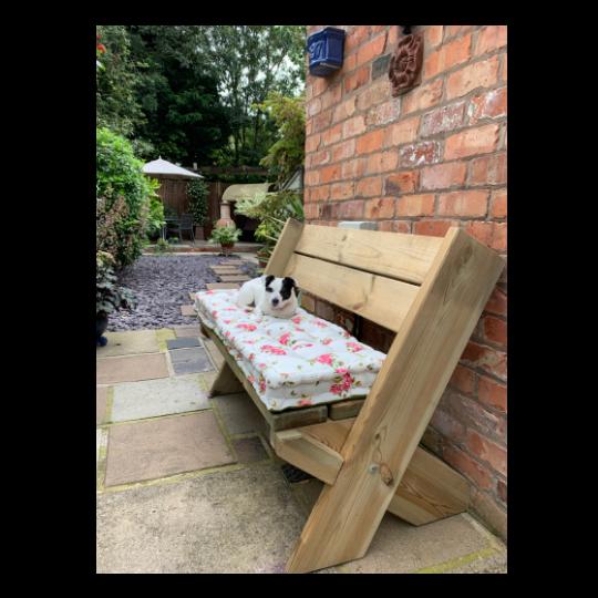Helmsley Blush Bench Cushion