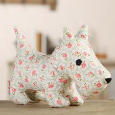 Rose Plush Dog Toy with Squeak