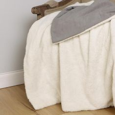 French Grey and Snow Cream Large Pet Blanket