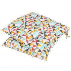 Summer Fun Geometric Bright Garden Seat Pad