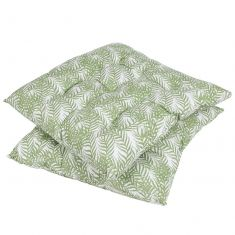 Tropical Fern Garden Seat Pad with Ties