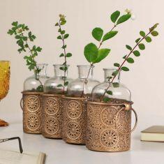 Four Compartment Moroccan Bud Vase Set