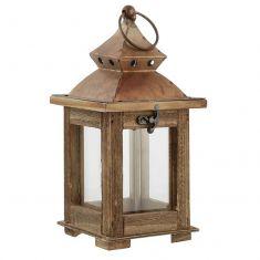 Wooden Garden Candle Lantern