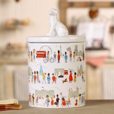 Ceramic Illustrative Pet Treat Jar