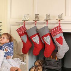 Nordic Heart Christmas Stockings