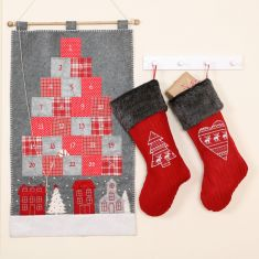 Nordic Winter Advent Calendar and Stockings