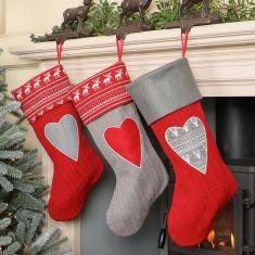 Nordic Woodland Christmas Stockings