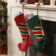 Opulent Jingle Bell Stocking Collection