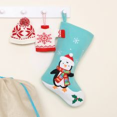 Baby's 1st Penguin Knit Christmas Stocking Collection