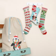 1st Christmas Family Knitted Christmas Stockings