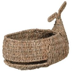 Seagrass Whale Storage Basket