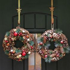 Stars and Baubles Christmas Wreaths