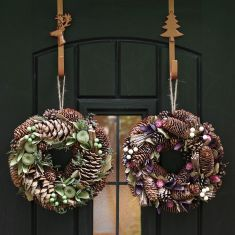 Winter Thistle and Apple Wreath Collection