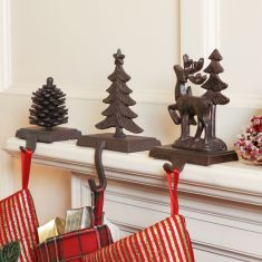 Highland Winter Christmas Stocking Hangers