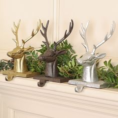Luxury Alpine Stag Stocking Holders