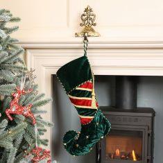 Regal Green Stocking Christmas Decor