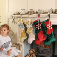 Christmas Train Stockings and Hangers