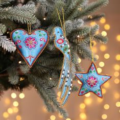 Affluent Blue Luxury Christmas Tree Decorations