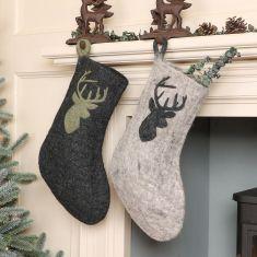 Fair Trade Christmas Stag Stockings