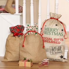 Plastic Free Christmas Gift Sack Selection