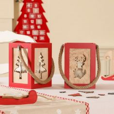Nordic Christmas Red Table Decorations