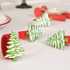 Snowy Forest Christmas Table Decorations