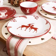 Christmas Red Stag Dinnerware