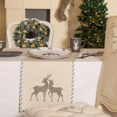 Grey Stag Stoneware Christmas Table Collection