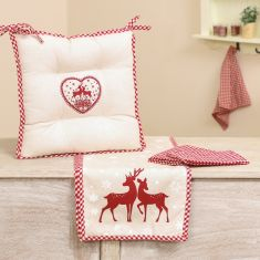 Sustainable Christmas Reindeer Table Linen