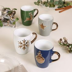 Christmas Metallic Mulled Wine Mugs
