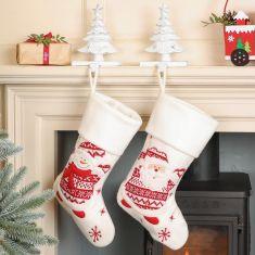 Scandi Knit Christmas Stockings