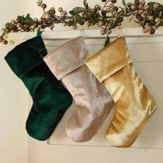 Mini Hanging Velvet Stockings