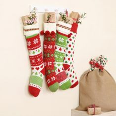 Nordic Knit Christmas Jumper Stockings