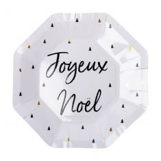 Set of 8 Joyeux Noel Christmas Paper Plates