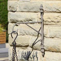 Distressed Grey Hanging Basket Bracket
